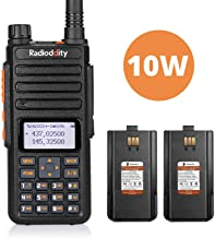 Radioddity GA-510 10-Watt Dual Band Ham Radio Handheld High Power Long Range with 22200mAh Batteries, Programming Cable, Earpiece