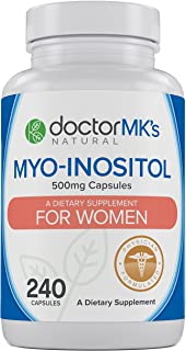 Myo-Inositol for PCOS (240 Count- Value Bottle) by Doctor MK's®