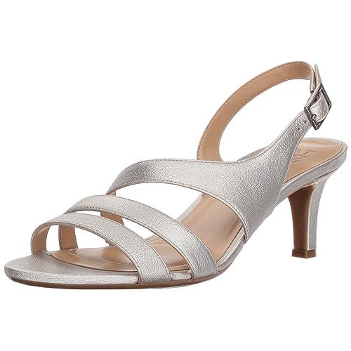 51ece8da8f5 Naturalizer Women s Taimi Heeled Sandal Silver 9 M US