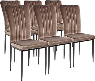Albatros Silla de Comedor Modena, Set de 6 sillas, marrón, certificada por la SGS