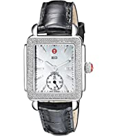 Michele - Deco Mid Diamond Black Alligator Watch