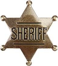 Sheriff Badge, Toy Sheriff Badge for Kids, Metal, Western Sheriff Badge, US-AKI-014