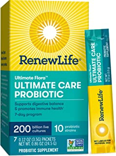 Renew Life Ultimate Flora Probiotic with 200 Billion Live Cultures (Pack of 7, 0.86oz)