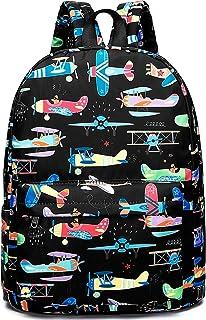 Preschool Backpack for Kids Boys Toddler Backpack Kindergarten School Bookbags (Plane-Black)