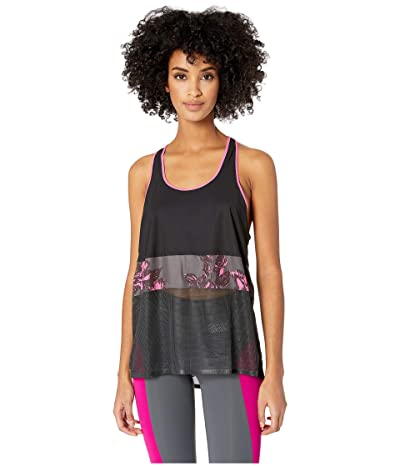 Monreal London Racer Tank Top (Slate Poppy Print) Women