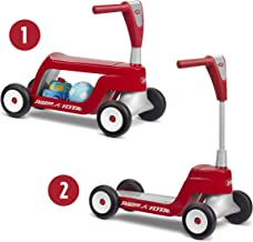 Radio Flyer Scoot 2 Scooter, Toddler Scooter or Ride on, Ages 1-4,Red