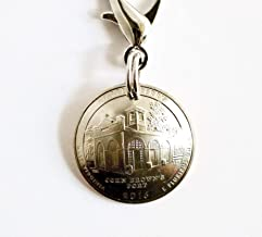 West Virginia Domed Coin Keychain Charm U.S. Quarter Harper's Ferry Key Ring, 2016