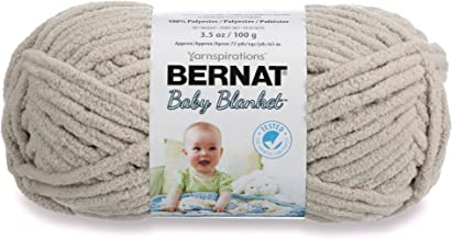 Bernat Baby Blanket Yarn, 3.5 oz, Gauge 6 Super Bulky, Baby Dove