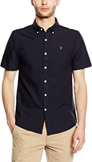 Men's Slim Fit Brewer Shortsleeved Shirt, Blue