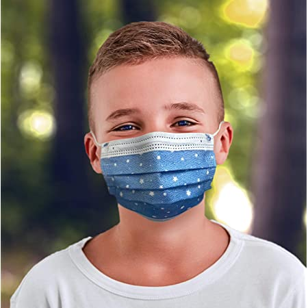 100 g 10 pieces 4-12 years multi-colored DrTalbots face masks for boys