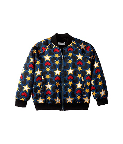 Stella McCartney Kids Joan Star Bomber Jacket (Toddler/Little Kids/Big Kids)