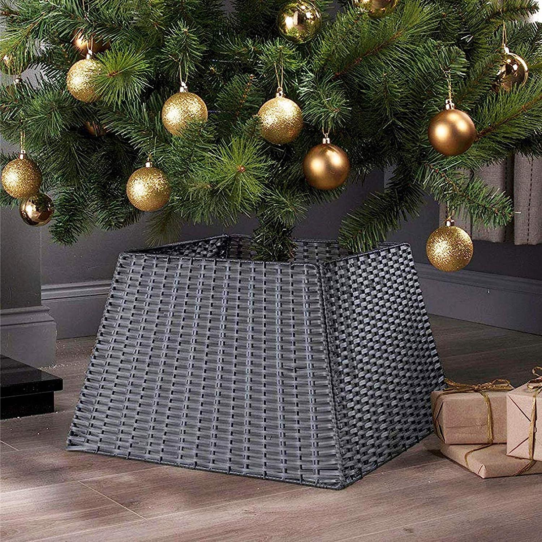 BAYN Christmas Tree Collar Skirt Rattan Washington Don't miss the campaign Mall Wicker Xmas