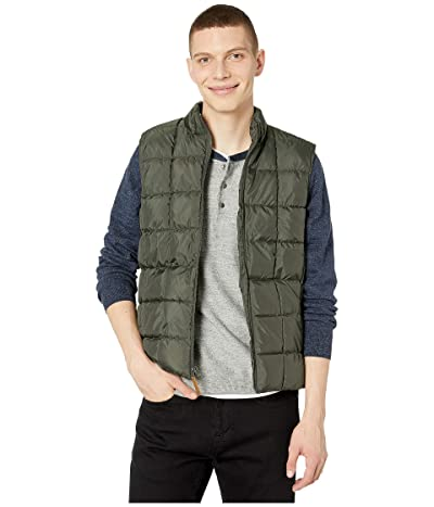 J.Crew Box Quilted Vest (Olive Moss) Men