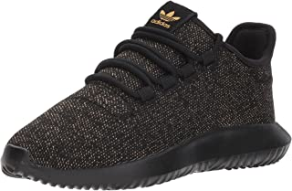 adidas Originals Kids' Tubular Shadow J Sneaker, Black/Back/ Back/ Gold Glitter, 7 M US Big Kid
