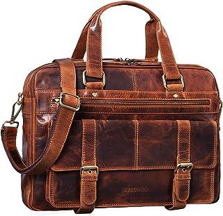 STILORD 'Alvaro' Vintage Businesstasche Echtes Leder Laptoptasche 15,6 Zoll Aktentasche Große Umhängetasche für Arbeit Bür...