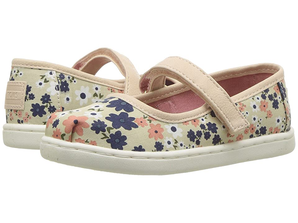 TOMS Kids Mary Jane (Infant/Toddler/Little Kid) (Birch Retro Floral) Girls Shoes