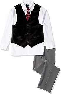 IZOD Boys' 4-Piece Formal Vest Set with Shirt, Vest, Pants, and Tie
