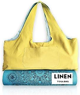 Eco-Sac Hemp Linen Yoga Bag | Washable Gym & Yoga Mat & Accessories Carrier That is Eco Friendly, Soft, Light, Large, | Ha...