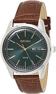 Seiko Dark Green Sunray Dial Solar Powered Men's Watch SNE529