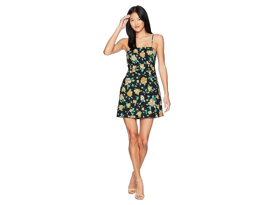 ASTR the Label Issa Dress (Black/Marigold Floral) Women