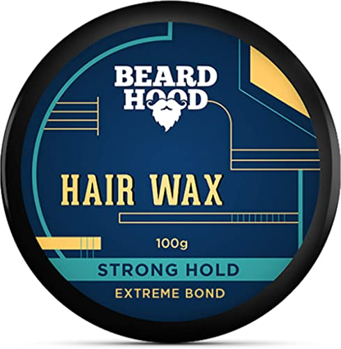 Beardhood Extreme Bond Strong Hold Hair Wax For Men, Natural Look, 100g product image