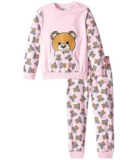 Moschino Kids All Over Teddy Bear Print T-Shirt & Pants Set (Infant/Toddler)