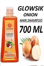 GLOWSIK ONION SHAMPOO WITH APPLE CIDER VINEGAR, ARGAN, AMLA, BHRINGRAJ FOR HAIR GROWTH AND ANTI -DANDRUFF