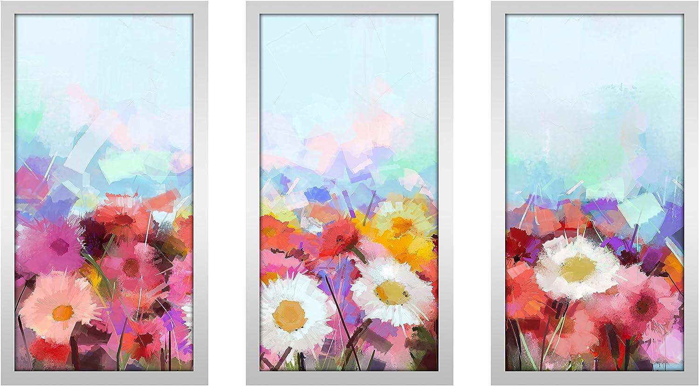13.5 W x 25.5 H x 1 D Picture Perfect International Force of Nature Framed Plexiglass Art Set of 3 Wall-Decor