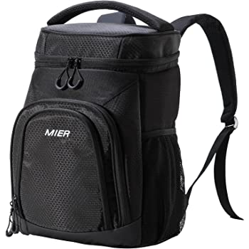 MIER Insulated Lunch Backpack Leakproof Soft Cooler for Men Women to Beach, Travel, Picnic, Hiking, Work,24Can/30Can