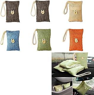 MONALA Lot de 6 sacs purificateurs d'air en charbon de bambou pour maison et voiture, éliminateur d'odeurs, désodorisant n...