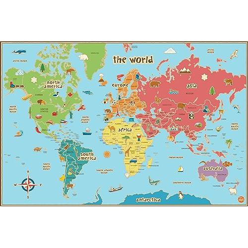 Preschool World Map.Preschool World Map Amazon Com