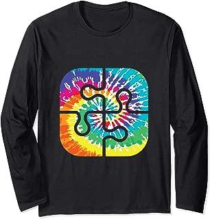 Autism Puzzle Piece Shirt, Tie Dye Autistic Puzzle Tee