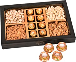 Food Library The Magic of Nature Diwali Exclusive Dry Fruits Gift Hamper (Dry Fruits with Ferrero)