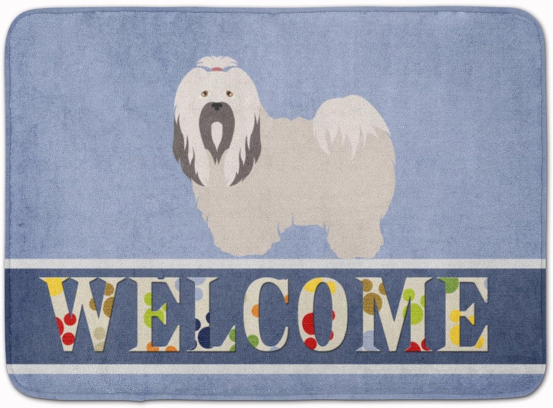 Caroline's Treasures Lhasa Apso Welcome Floor Mat, 19  x 27 , Multicolor