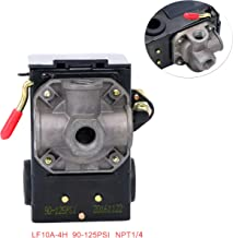 Lefoo Pressure Switch Control 90-125psi 4 Port Heavy Duty 26 Amp for Air Compressor LF10A-4H-1-NPT1/4-90-125