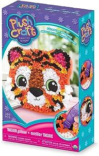 The Orb Factory Tiger Pillow Arts & Crafts, Orange/Black/White/Pink, 7.5