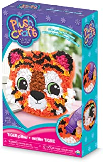 The Orb Factory Tiger Pillow Arts & Crafts, Orange/Black/White/Pink, 7.5