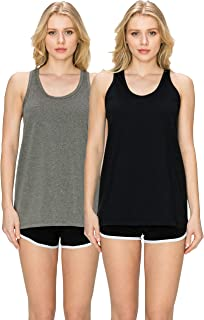 Cotton Loose Fit Tank Tops-Relaxed Athletic Workout Flowy for Women