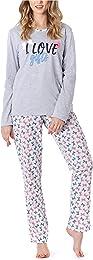 Pyjama Ensemble Haut et Bas Vêtement d'Intérieur F