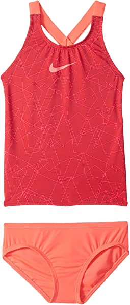 Nike Kids - Nova Flare Prism Crossback Tankini Set (Big Kids)