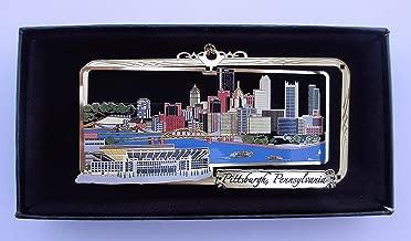 Pittsburgh PA Brass Ornament City Skyline Football Stadium