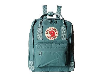 Fjallraven Kanken Mini (Frost Green/Chess Pattern) Backpack Bags