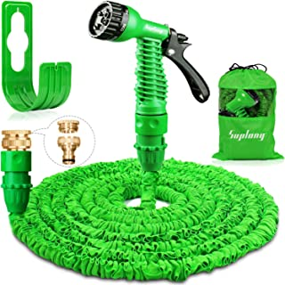 Suplong 50ft Garden Hose Expandable Water Pipe 3 Times Expanding Flexible Magic Hose Pipes With 7 Function Spray/Brass Con...