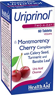 Uriprinol®, Uric Acid Cleanse, 60ct, Twice Daily, Montmorency Cherry Complex with Celery Seed, Turmeric and Banaba Leaf, V...