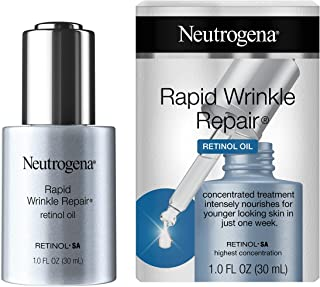Neutrogena Rapid Wrinkle Repair Anti-Wrinkle Retinol Face Serum Oil, Lightweight Anti-Wrinkle Serum To Remove Dark Spots, Deep Wrinkle Treatment, 0.3% Concentrated Retinol SA, 1.0 fl. oz
