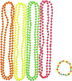 Zacs Alter Ego® - Set aus 4 Halsketten & Armband - Kunststoffperlen in Neonfarben
