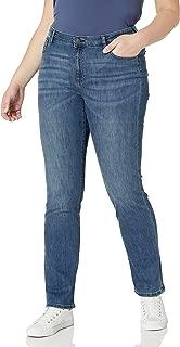 Amazon Essentials Women's Slim Straight Jean, New Medium Wash, 8 Long