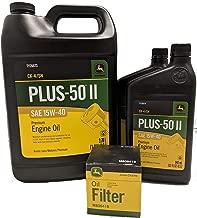 John Deere Original Equipment Oil Change Kit Filter and Oil - (1) M806418 + (6) Quarts 15W-40