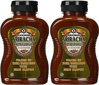 Kikkoman Hot Sriracha Chili Sauce, 10.6 Ounce (Pack of 2, Total of 21.2 Fl Oz)