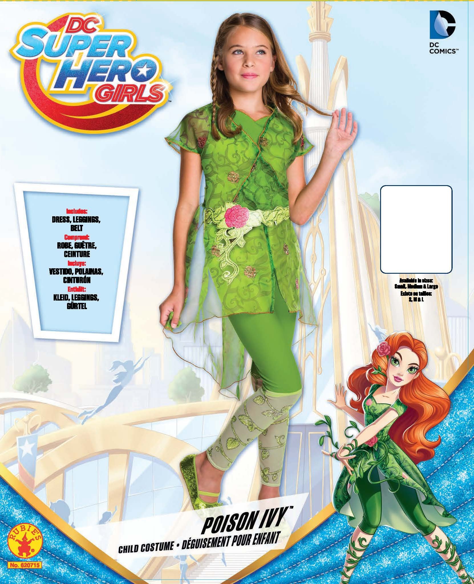 Rubies - Disfraz de Hiedra Venenosa de DC para niñas: Amazon.es ...